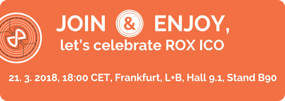 Join&Enjoy, let's celebrate ROX ICO start