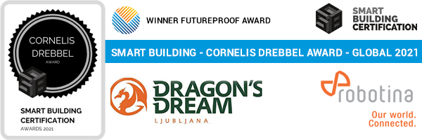 We won the prestigious first place of the smartest building in the world for the Hostel Dragons Dream project
